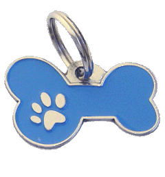 BONE MJAVHOV BLUE - pet ID tag, dog ID tags, pet tags, personalized pet tags MjavHov - engraved pet tags online